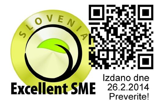 Excellent SME Slovenia Certificat